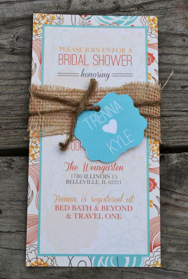beautiful wedding shower invitation template