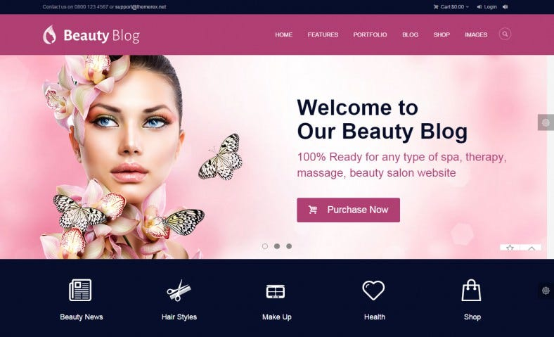 10+ Best Makeup Artists Website Templates | Free & Premium Themes ...