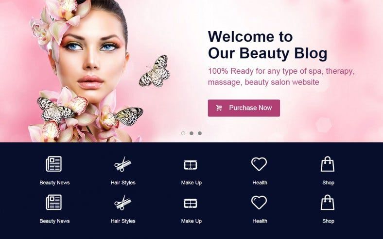 Beauty Blog Make Up Artist Responsive WordPress Theme 58 788x493