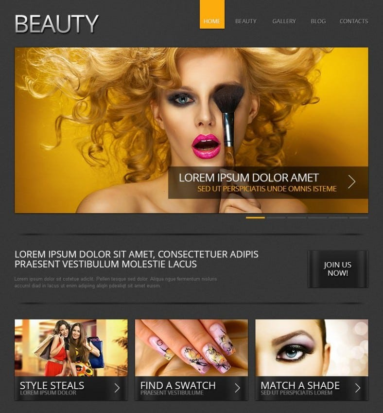 10  best makeup artists website templates