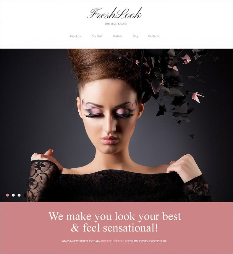 10 best makeup artists website templates free premium for Best online drawing websites