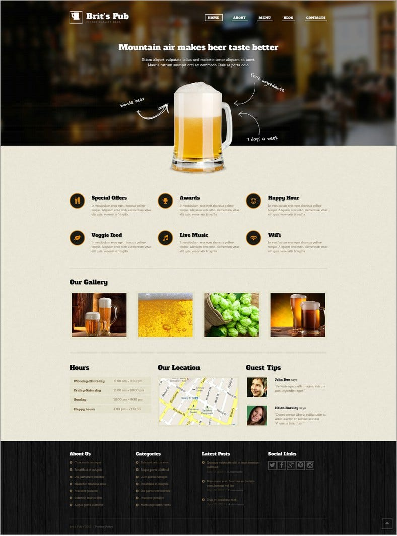 beer pub grunge style responsive wordpress theme 75 788x1064