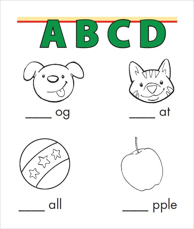 the beginning sounds language art worksheet template works stringently to make your kids aware about various alphabets that can be filled in the blank space - Art Templates For Kids