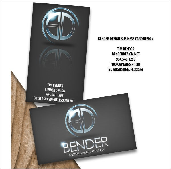 bender design business card