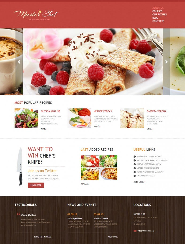 best chef joomla template 788x1036