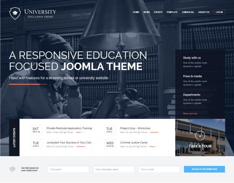 best student joomla theme 39 788x616