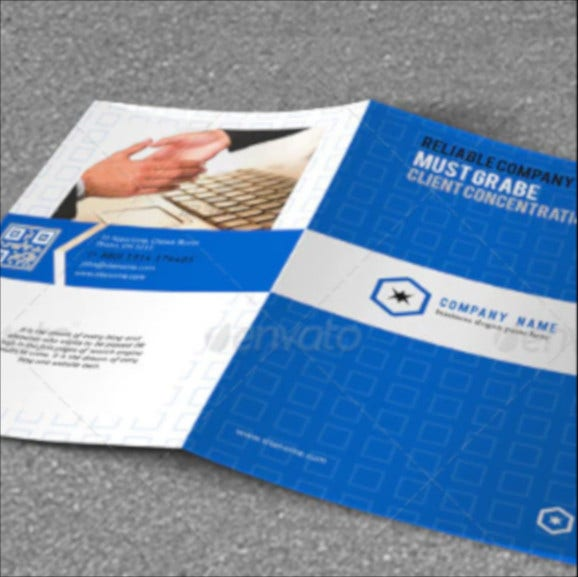 bi fold brochure for master business