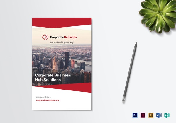 bi fold corporate business brochure template - Brochure Design Ideas