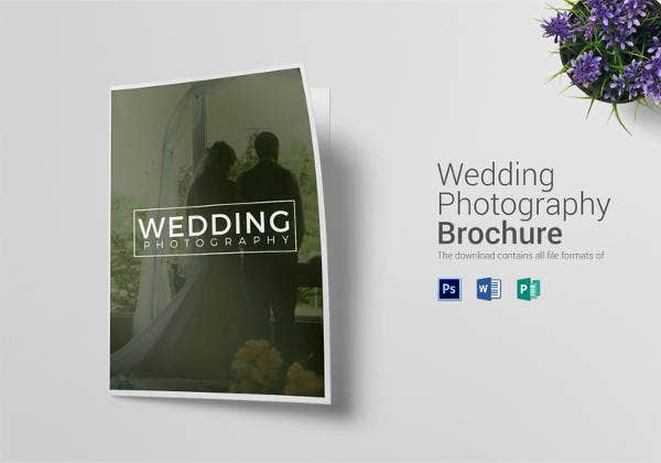 bi fold wedding photography brochure template