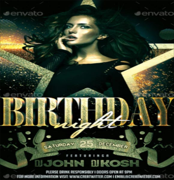 birthday party photoshop flyer template
