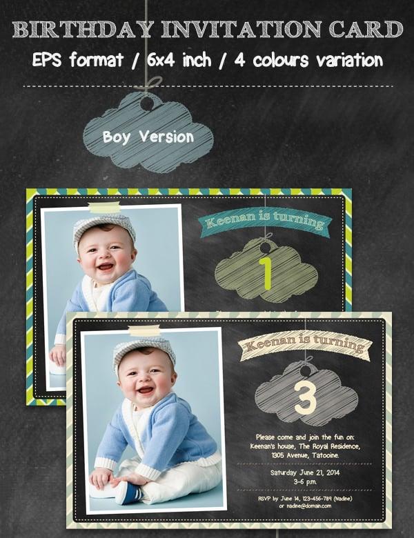 birthday partyt invitation card template