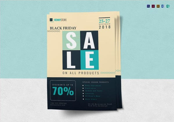 black friday big sale flyer template