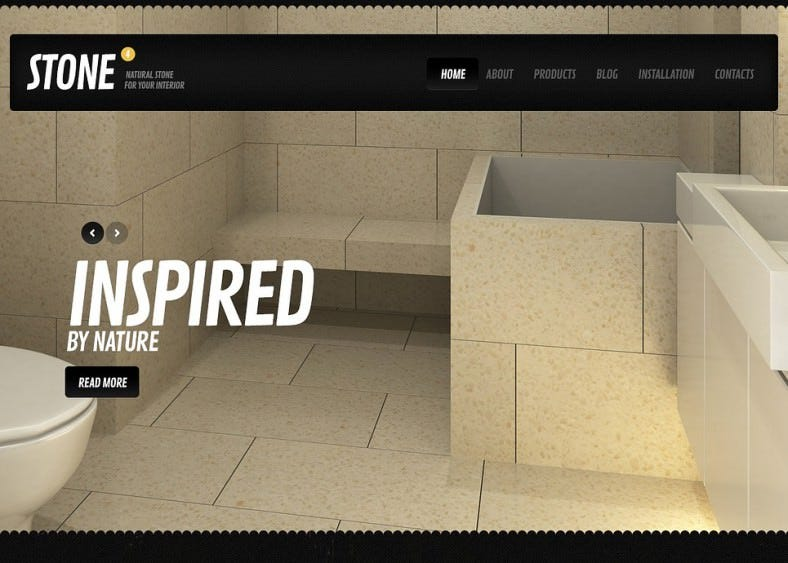 black interior design drupal template 788x563