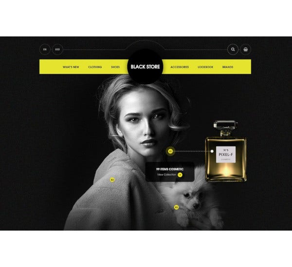 black store psd ecommerce template