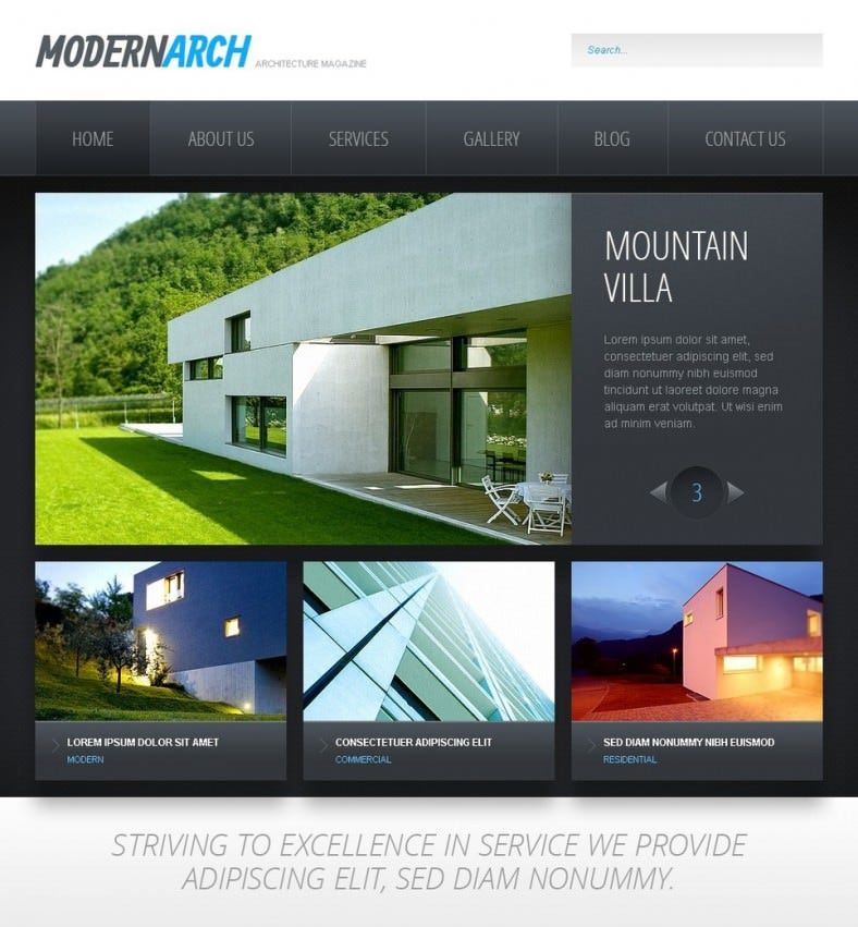 Black and White Construction Drupal Template