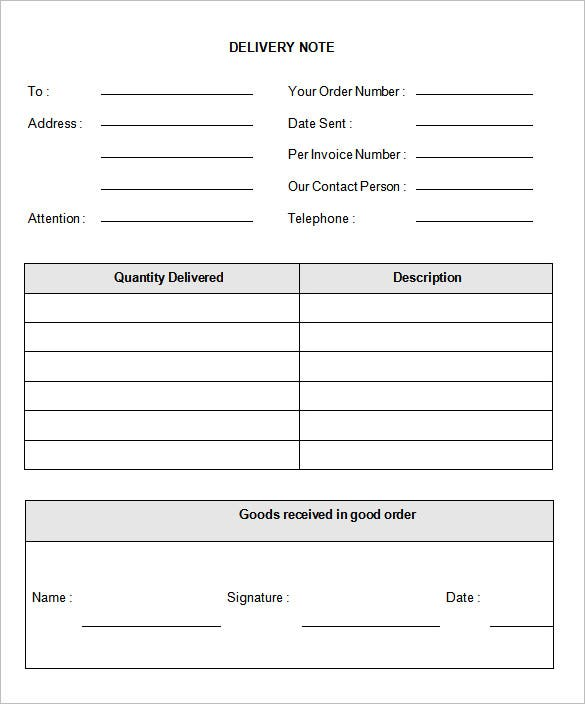 delivery note template | datariouruguay