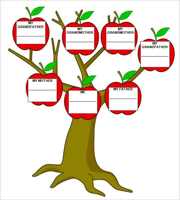 blank family tree template word document