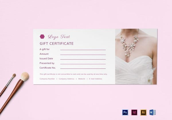 blank gift certificate indesign template