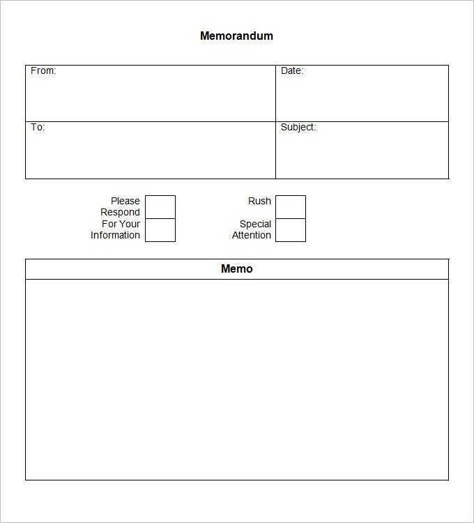 Amazing Blank Memo Template Simple PDF Document Download