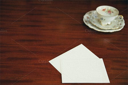 blank stationery note card
