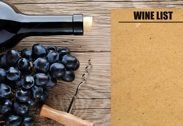 Blank Wine Menu Template  Free Wine List Template
