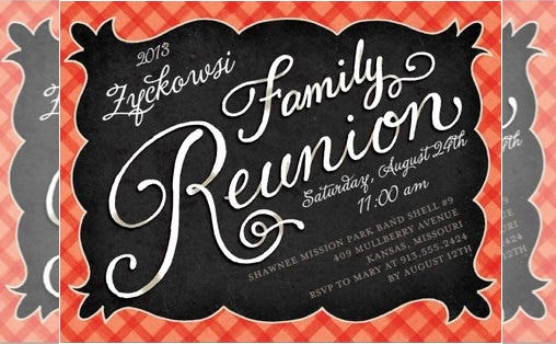 blaze family reunion invitation template