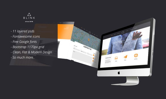 blink awesome portfolio psd template
