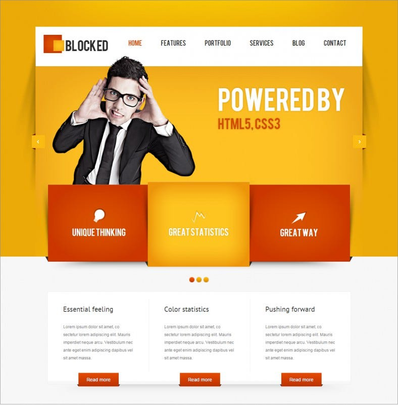 blocked orange responsive wordpress themes 48 788x802