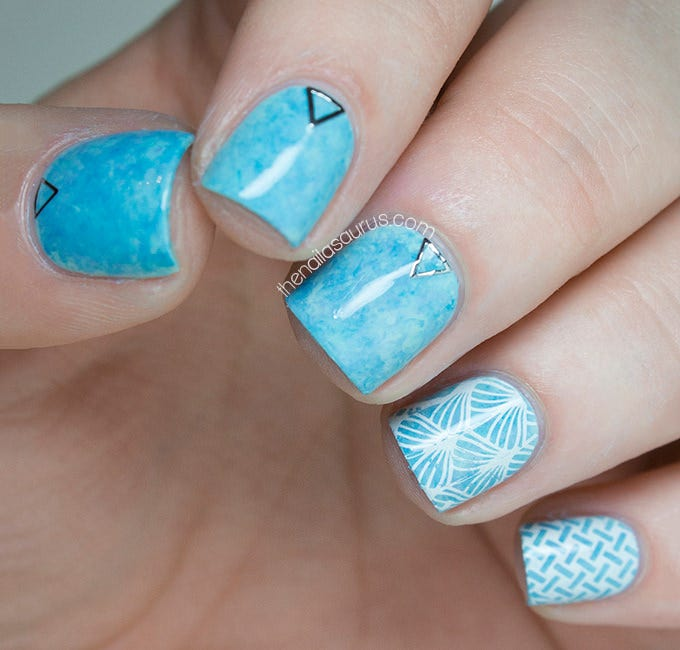 25 blue nail art designs ideas free premium templates blue nail design picture prinsesfo Choice Image