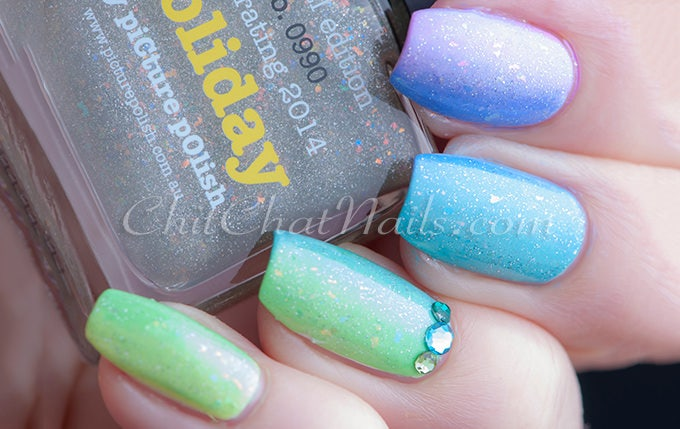 25 blue nail art designs ideas free premium templates blue and green glitter nail design prinsesfo Choice Image