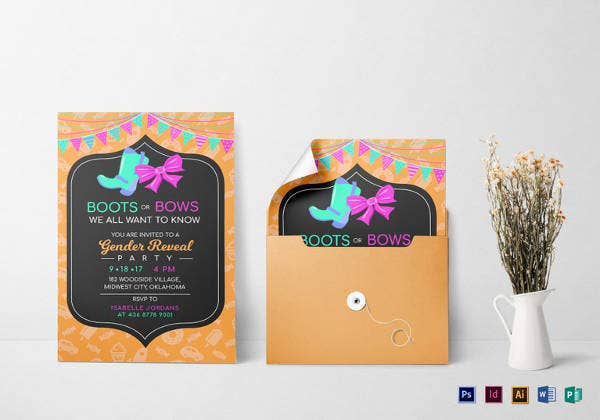 boots-or-bows-gender-reveal-invitation-template