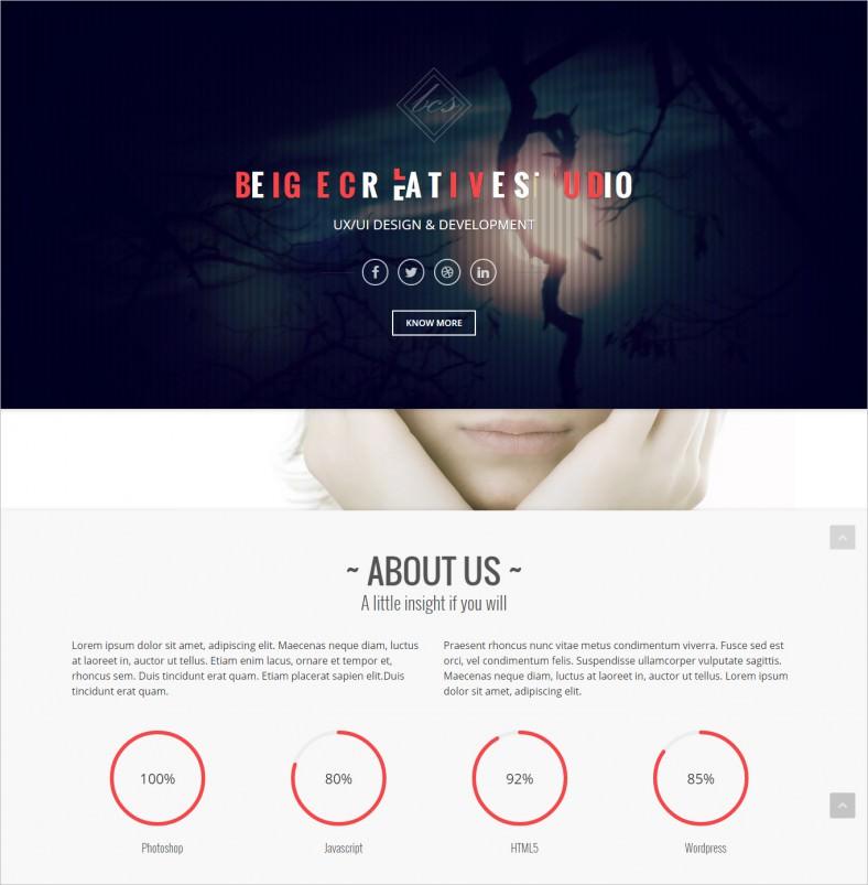 Portfolio One Page Drupal Theme