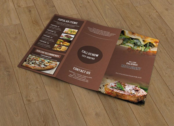 brown background food menu template