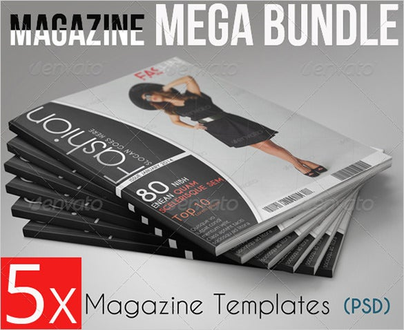 bundle news magazine psd template