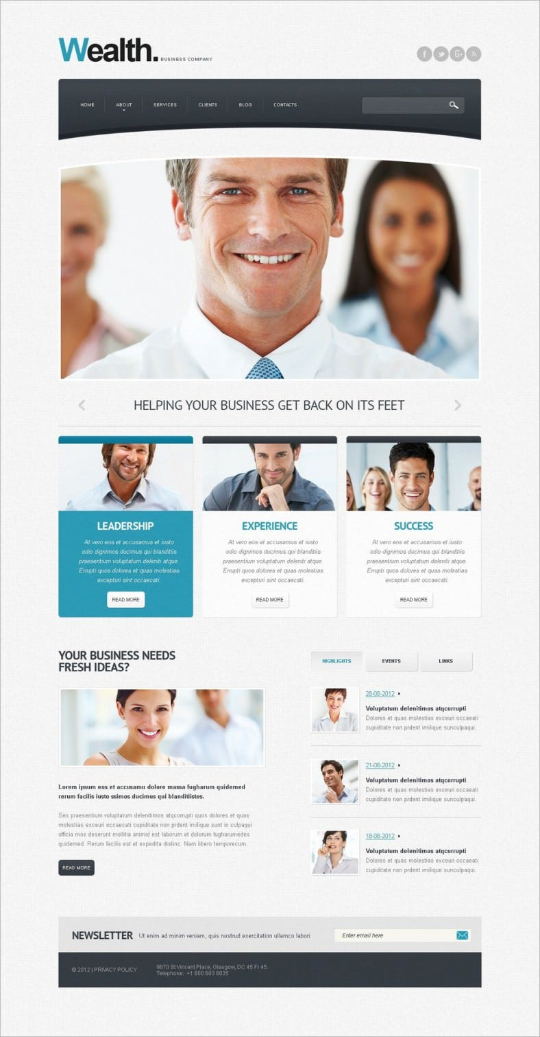 business advertising agency drupal template 788x1511