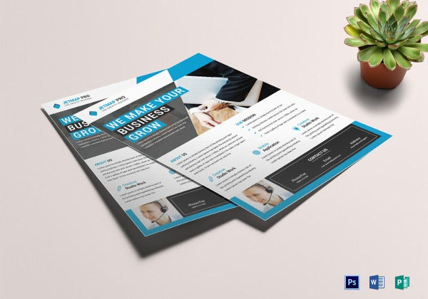 business corporate flyer template in publisher