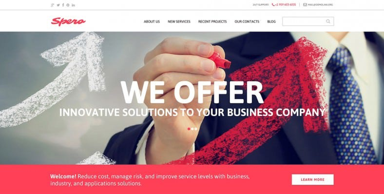 business html5 drupal template 788x398