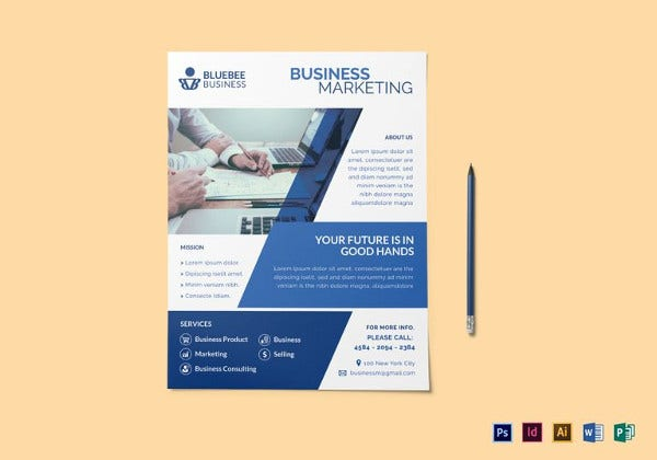 business marketing flyer template in psd