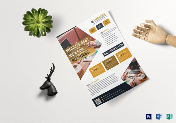 business marketing flyer template1