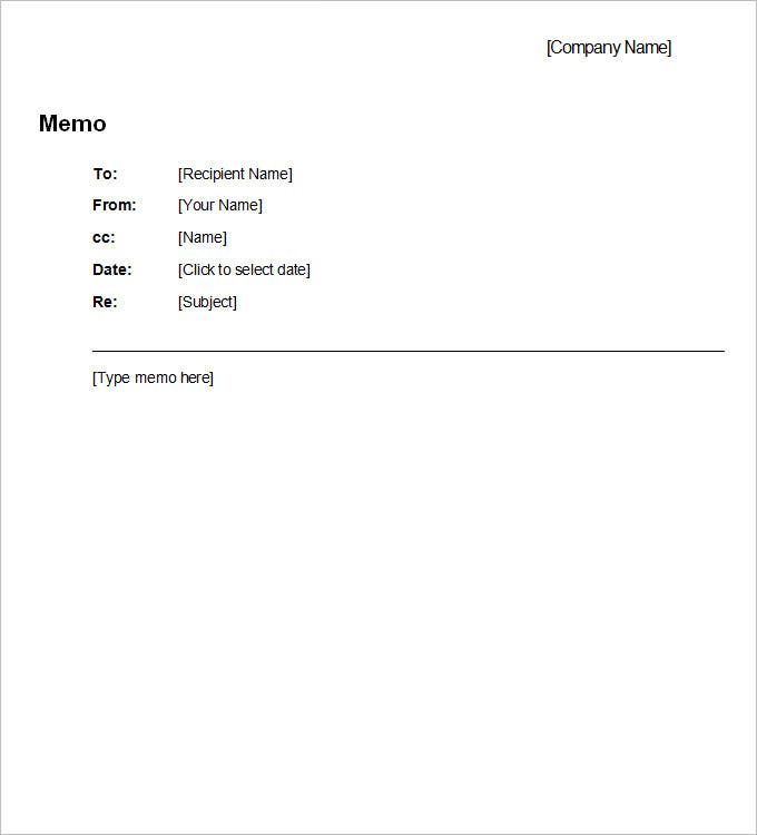 Business Memo Template   Free Word Pdf Documents Download