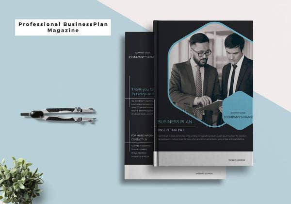 business plan magazine in psd template