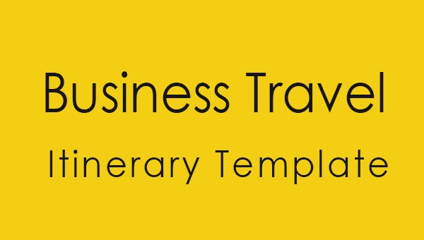 business travel itinerary template featured image.
