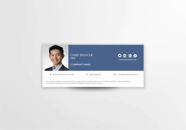 ceo email signature in psd