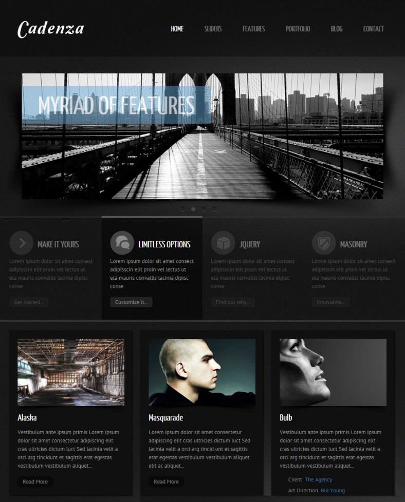 cadenza black dark responsive wordpress theme1 788x978