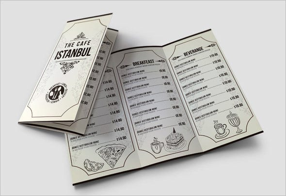 cafe lunch menu pack download