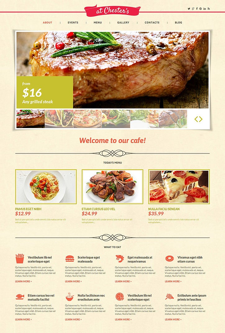 cafe pink responsive wordpress template 75