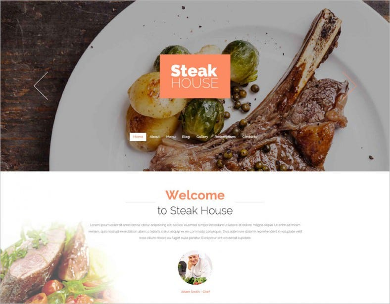 cafe and restaurant drupal template 788x614