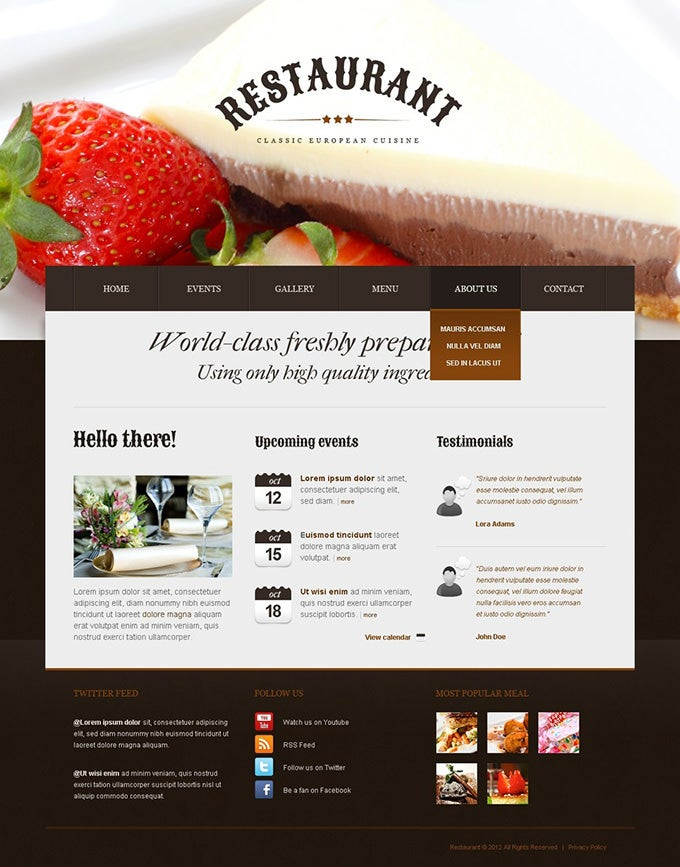 cafe and restaurant drupal template and theme1