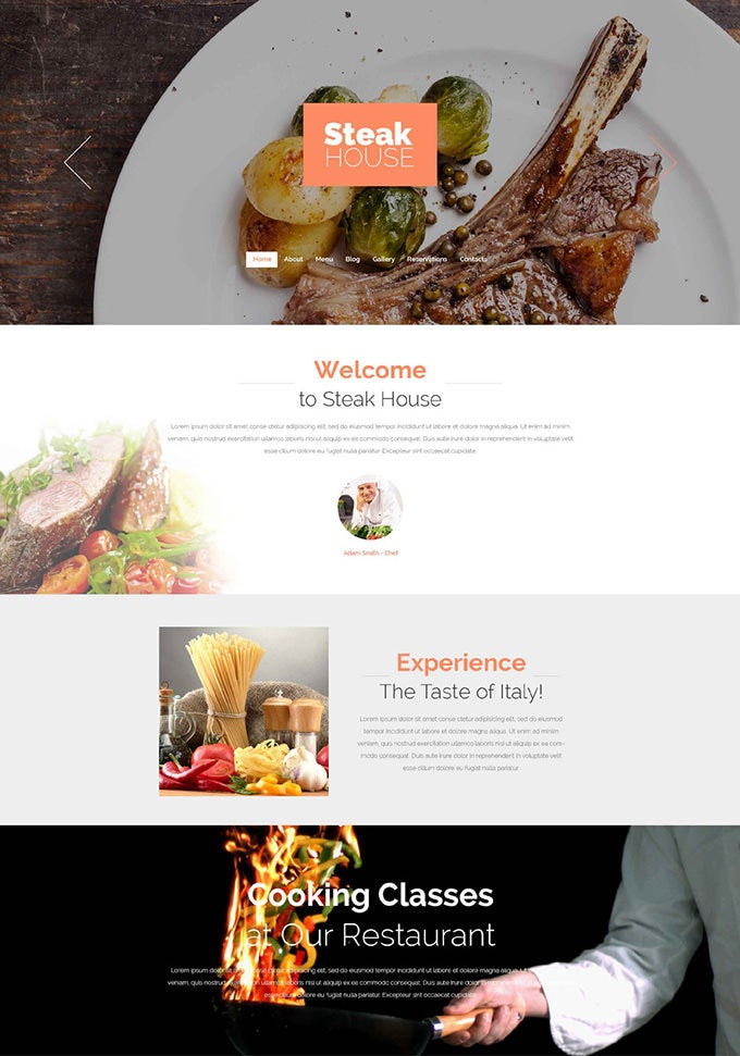 cafe and restaurant drupal theme