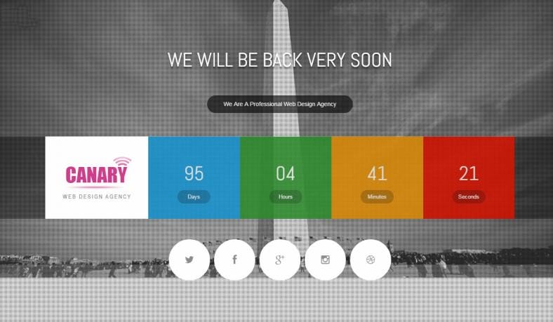 canary html5 coming soon page theme 6 788x459